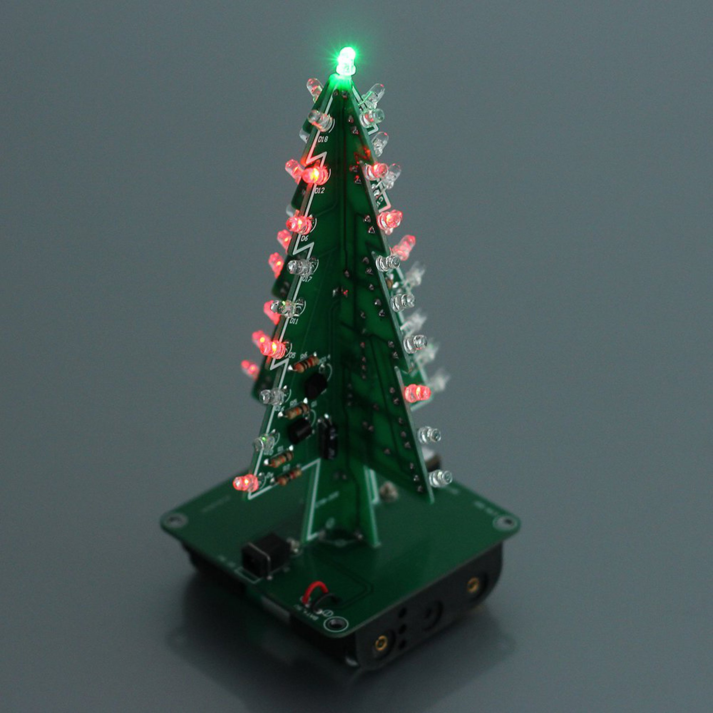 Diy 3d Xmas Tree 7 Color Flash Led Kits7213 From Icstation On Tindie Ledchristmaslightingusingtransistors 2