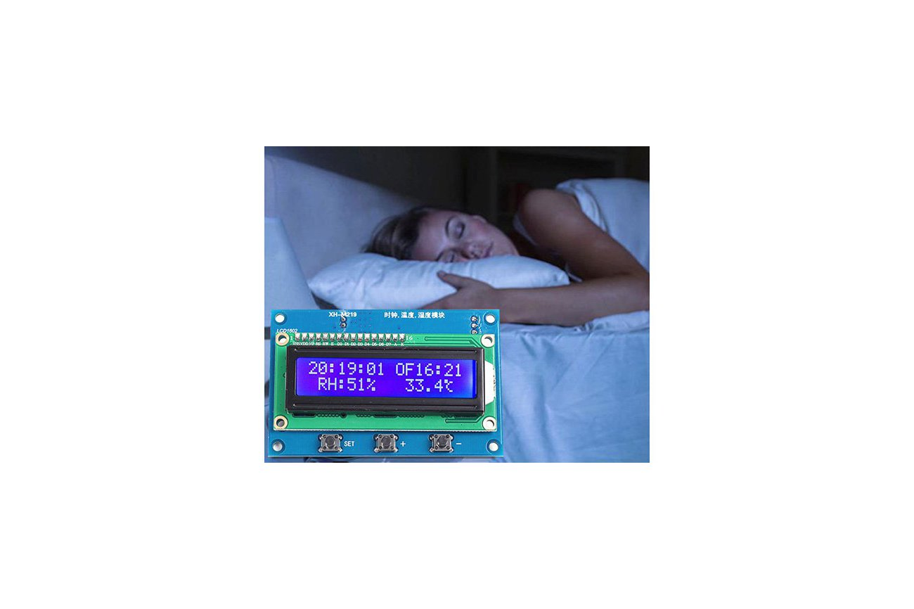 Clock Temperature Humidity Tester with LCD (13100)