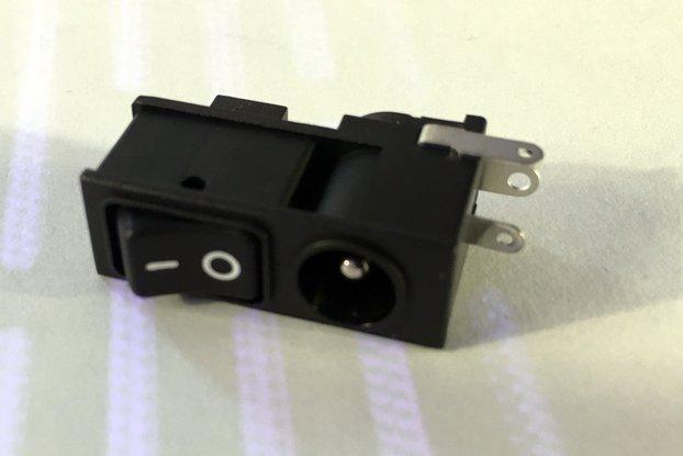 Adafruit Rocker Switch DC Plug - Fatshark Button
