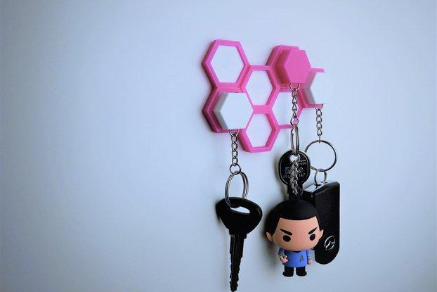 Hexagon honeycomb key holder