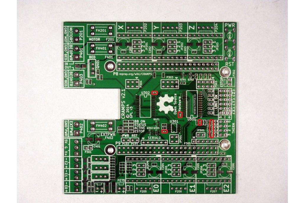 CRAMPS - Stepper driver beaglebone cape - v2.2 PCB 1
