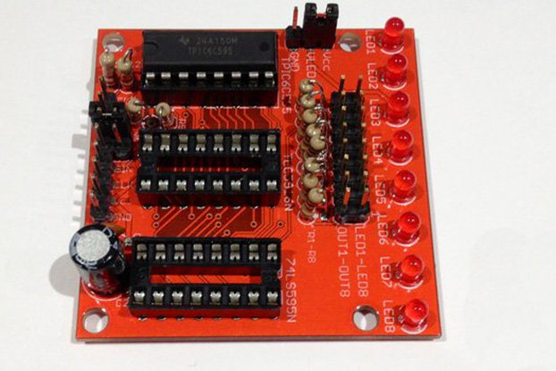 Shift register experimenter's board (PCB)