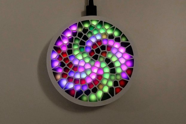 Fibonacci128 - 86mm disc with 128 WS2812B RGB LEDs