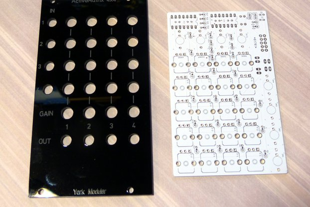Eurorack active matrix mixer PCB/panel