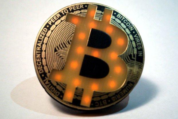 Bitcoin Led Badge