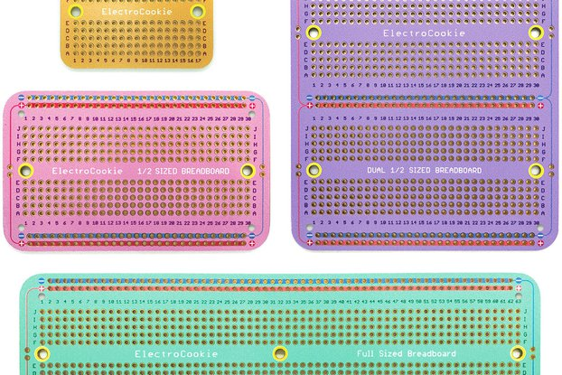 Solderable Breadboard PCB (Macaron Color, 4 pack)