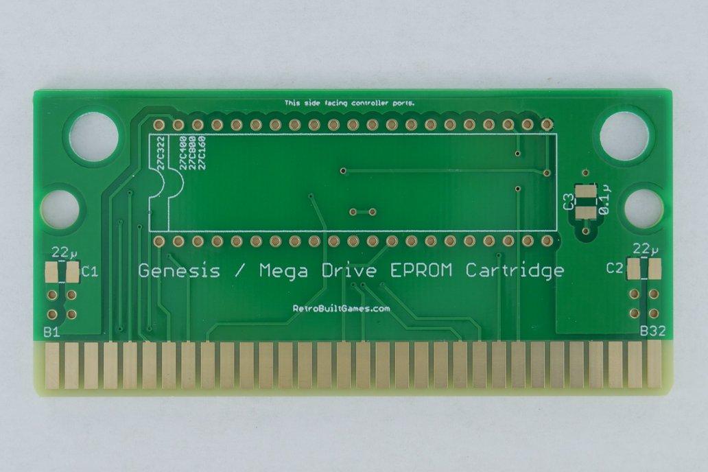 Repro PCB for Sega Genesis [Mega Drive] EPROMs 1