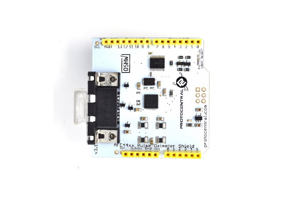 AFE4490 Pulse oximeter shield for Arduino - v2