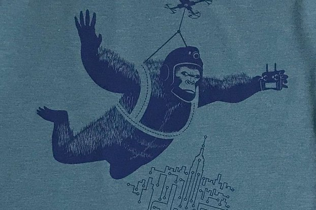 Drone Dropping Kong Graphic Tee
