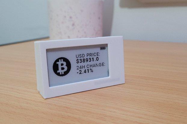 Crypto Tracker - Week Long Battery Life! | E-Ink