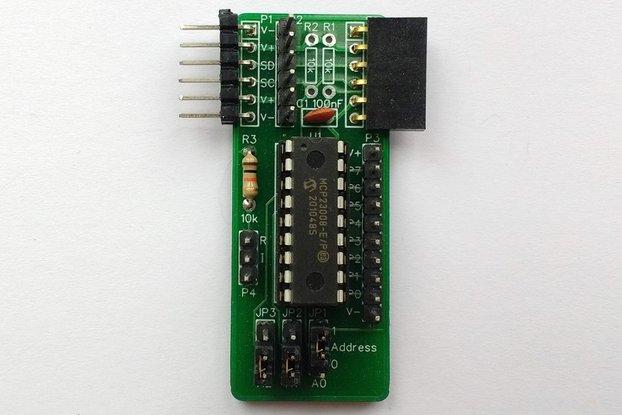 SC404 I2C Digital I/O Module Kit (MCP23008)