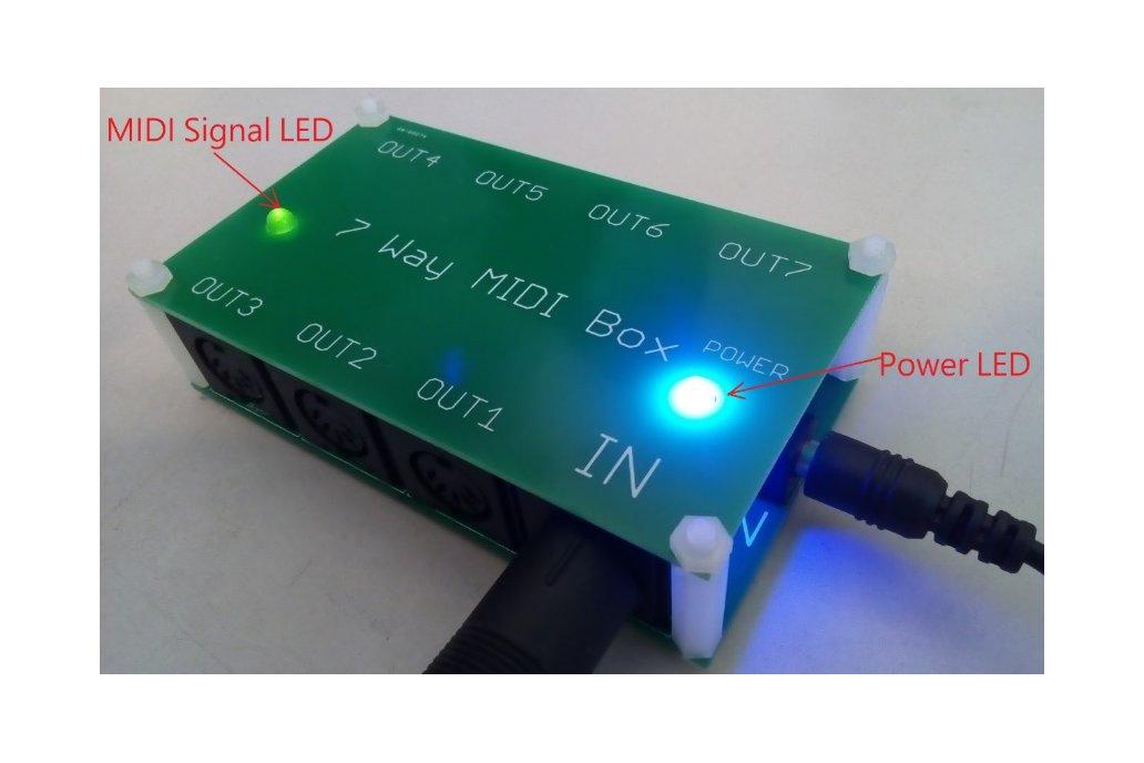 7 way MIDI Thru Splitter unit for synthesizers 2