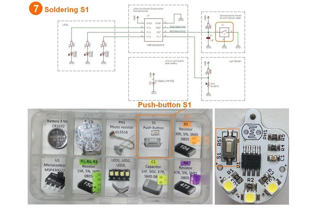 Light sensing smart LED flashlight KIT 12