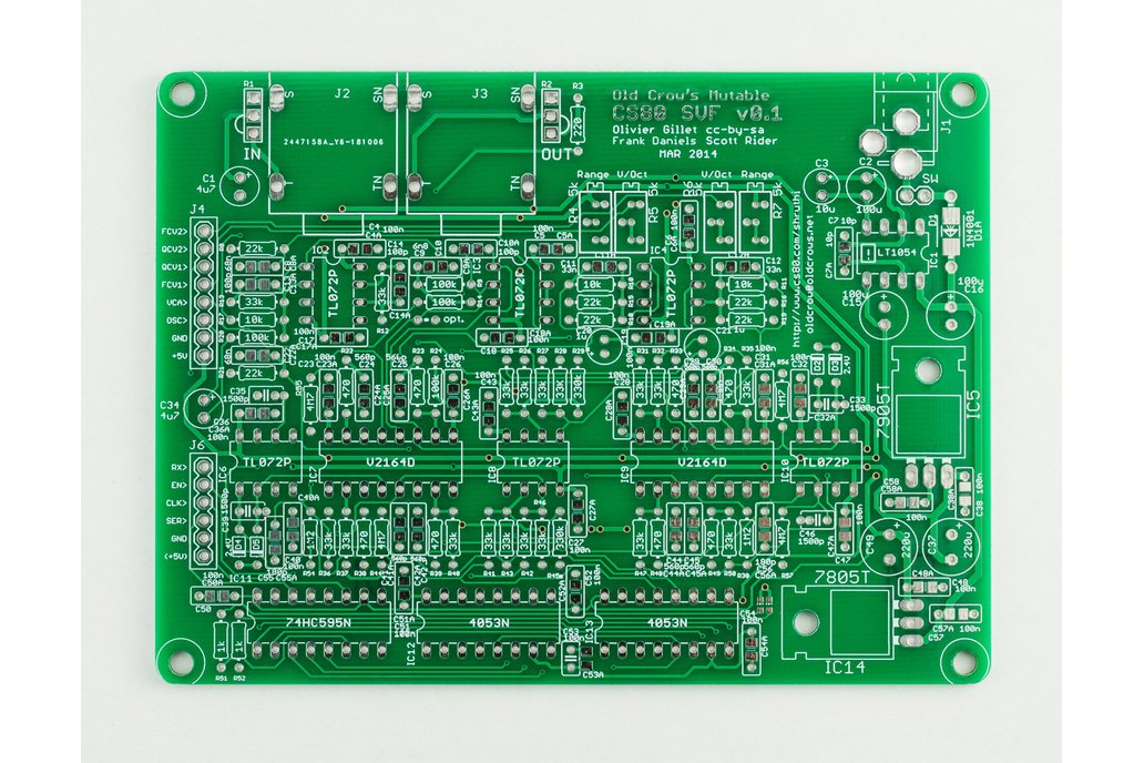 Shruthi Old Crow's CS-80 SVF Filter PCB 1