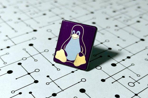 Linux Tux Penguin PCB Lapel Pin