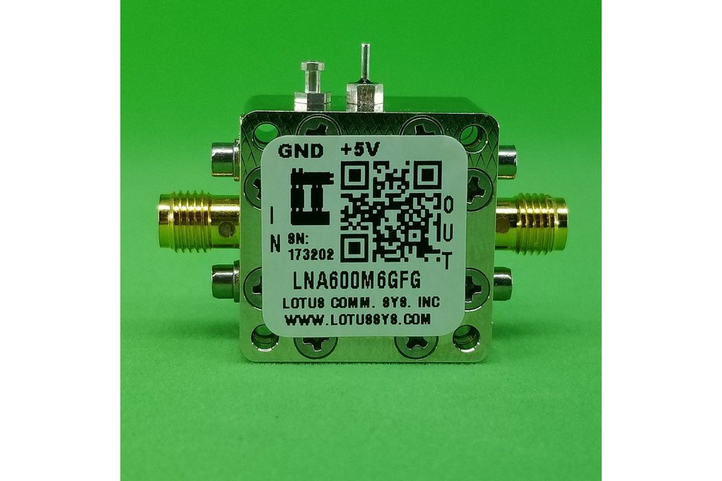 Amplifier LNA 0.9dB NF 600MHz to 6GHz 21dB Gain 1