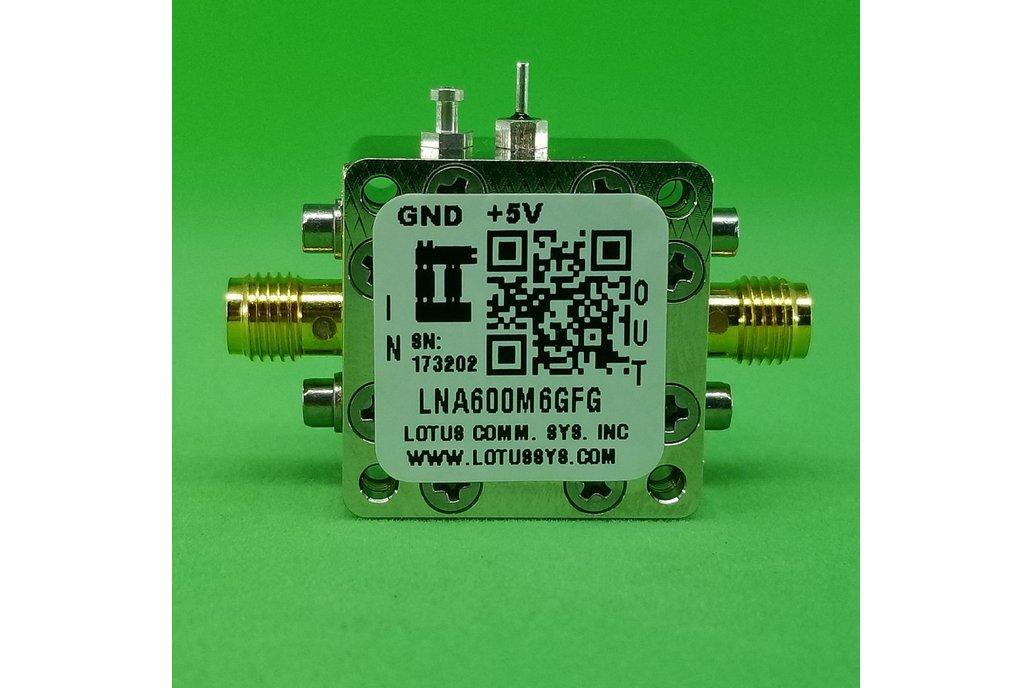 Amplifier LNA 0.9dB NF 600MHz to 6GHz 21dB Gain 1