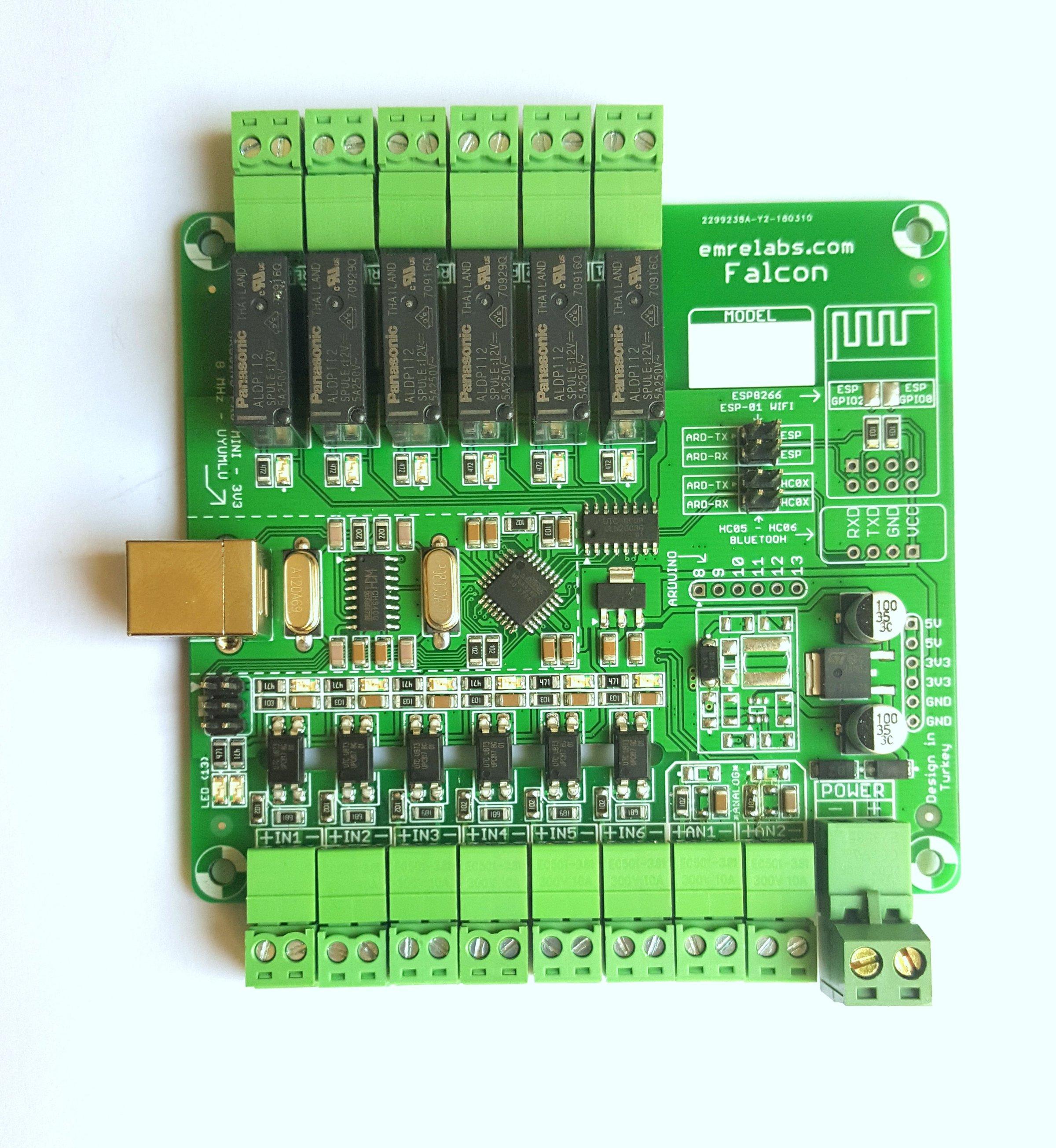 Arduino falcon industrial control board from emrelabs on