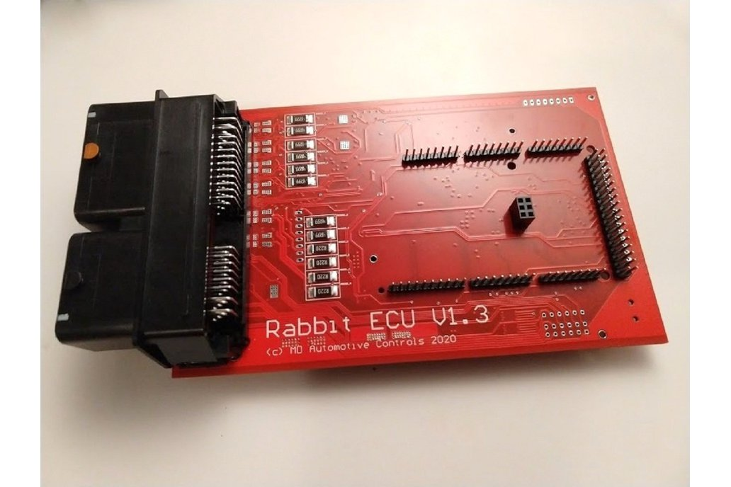 Rabbit ECU V1.3 Populated PCB with Arduino Sockets 1