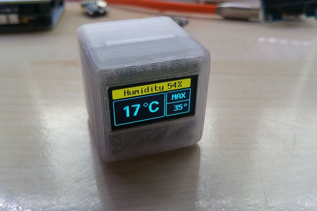 ICE CUBE Temperature Alarm with Humidity Readout
