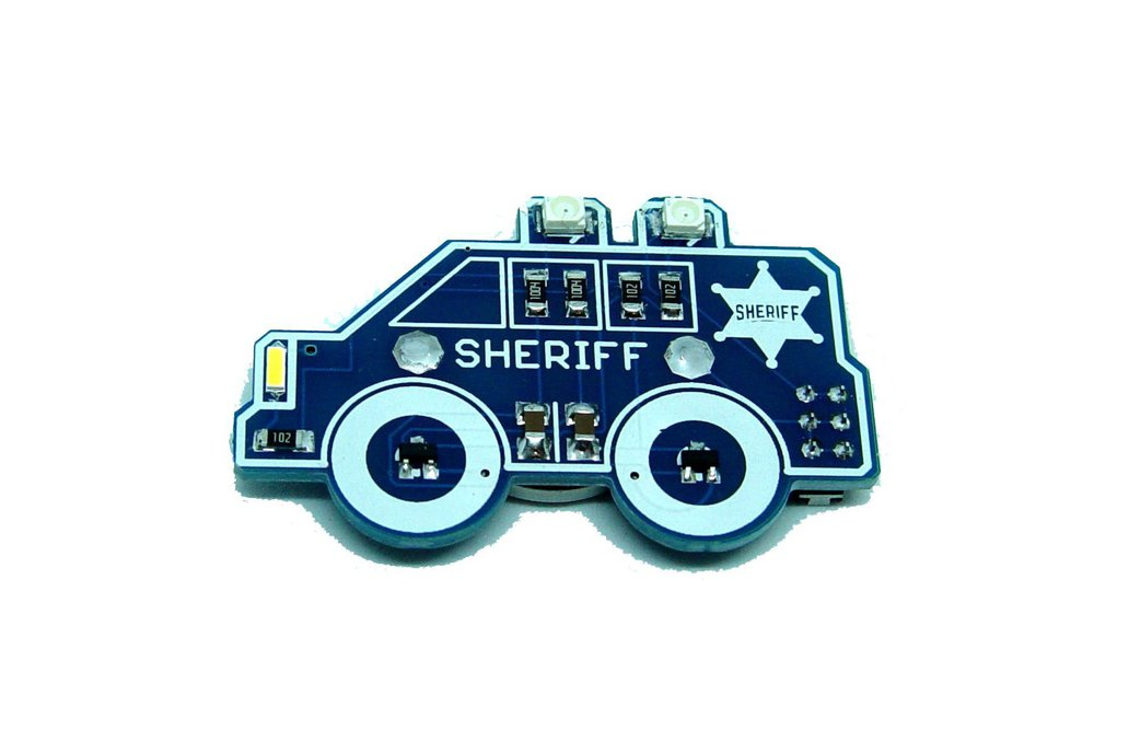 Sheriff car - LED learn to solder kit 1