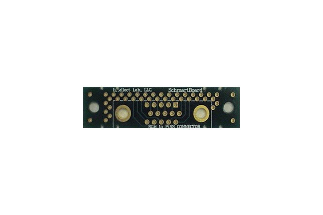 "Through Hole RGB 15 Pins Connector 0.5"" X 2"" Grid 1"