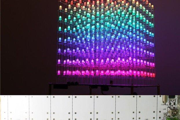 DIY Kit - AuraCube 8x8x8 LED Cube 3D Full Color