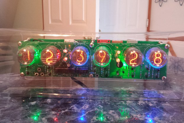 Six Digit Nixie Clock with IN-4 (end view) tubes