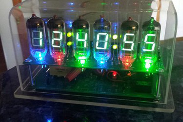VFD clock using IV-11 big Soviet era vacuum tubes