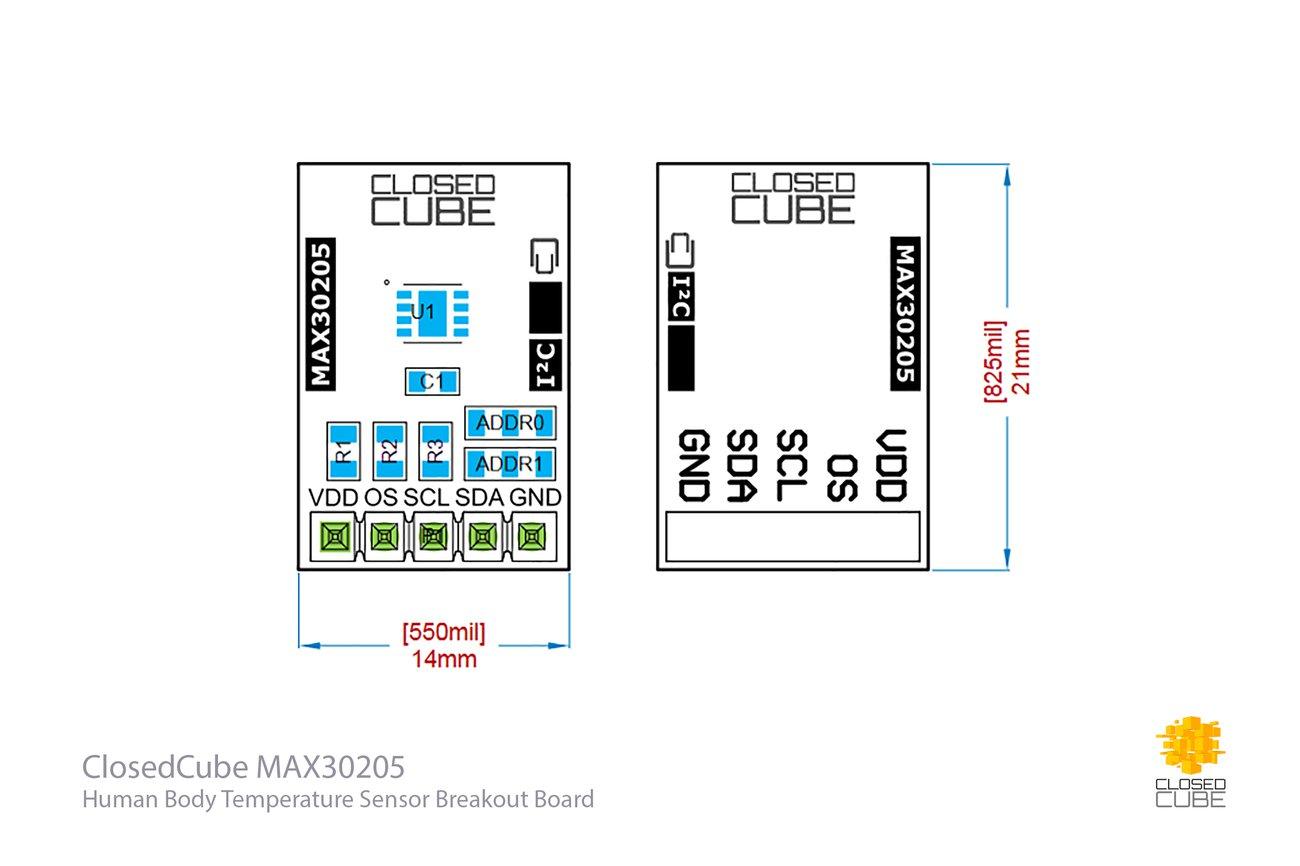 MAX30205 ±0.1°C Human Body Temperature Sensor