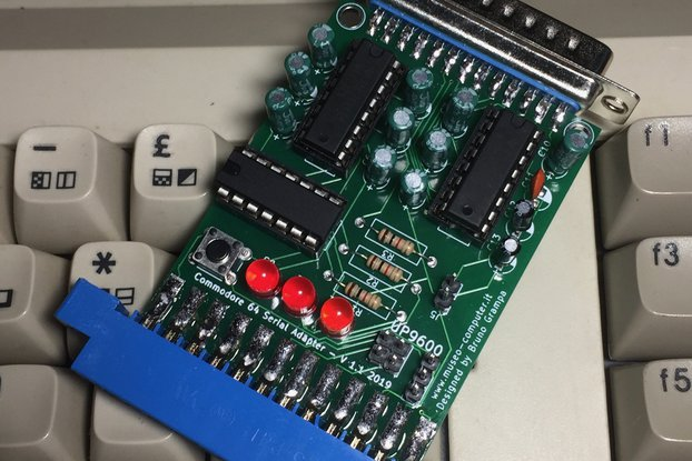 Enhanced Commodore 64 RS232 Serial Adapter