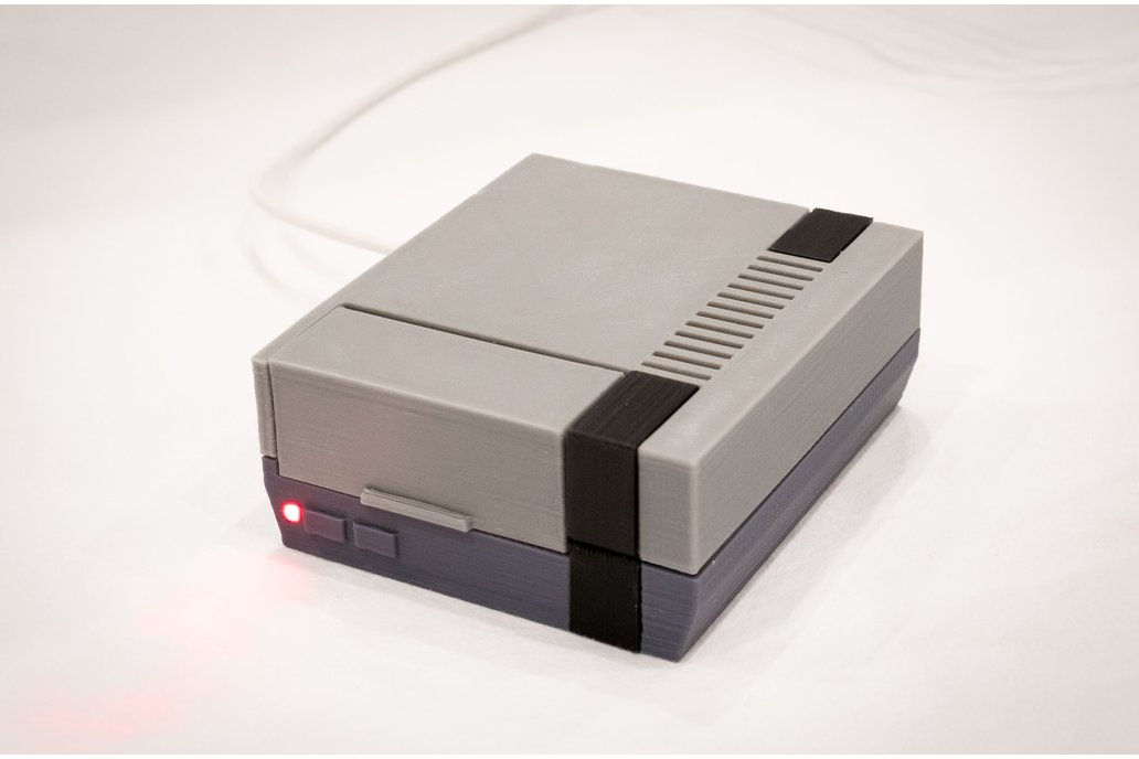 3D Printed NES Case for Raspberry Pi w/ Fan & LED 1