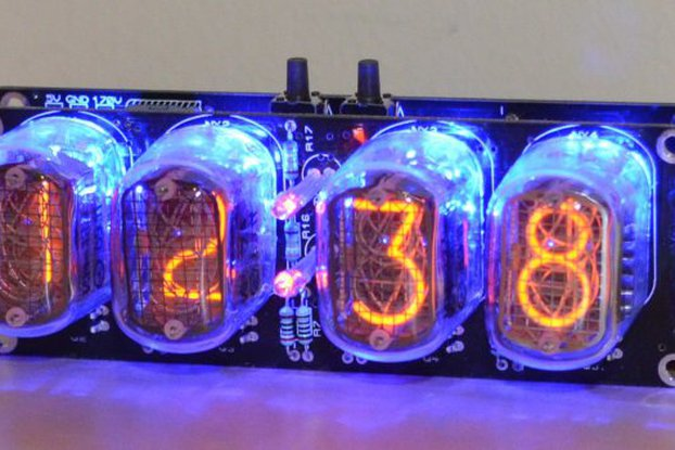 Nixie Tube Clock Kit with IN-12 Tubes