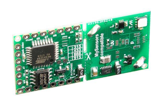 Button Sized RFM69 Wireless Node Ver 2