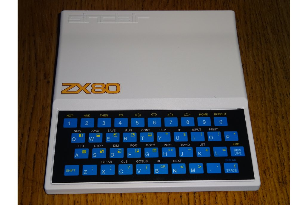 Keyboard overlays for TS1000/ZX80/ZX81 11