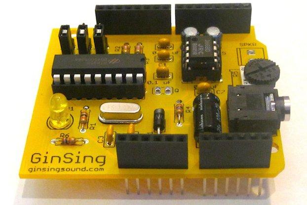 GinSing Speech | Sound Synth Arduino Shield Kit