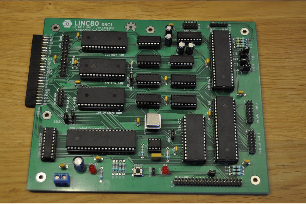 LiNC80 SBC1 - Homebrew Z80 Computer Kit 2