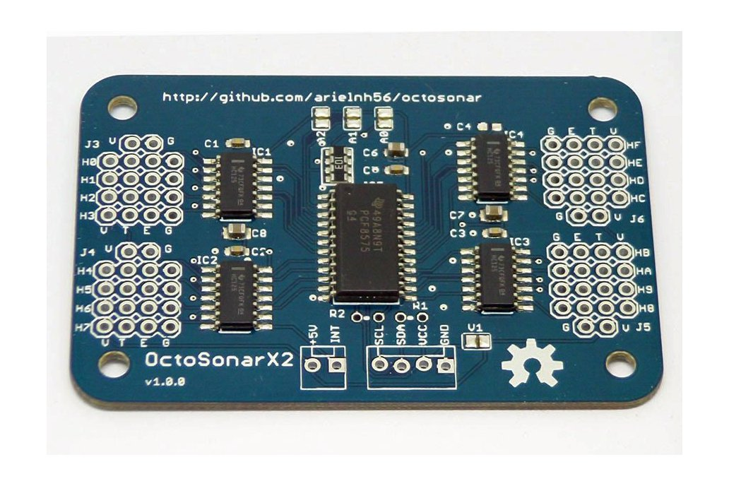 OctosonarX2 - connect 16 x HC-SR04 to Arduino 1