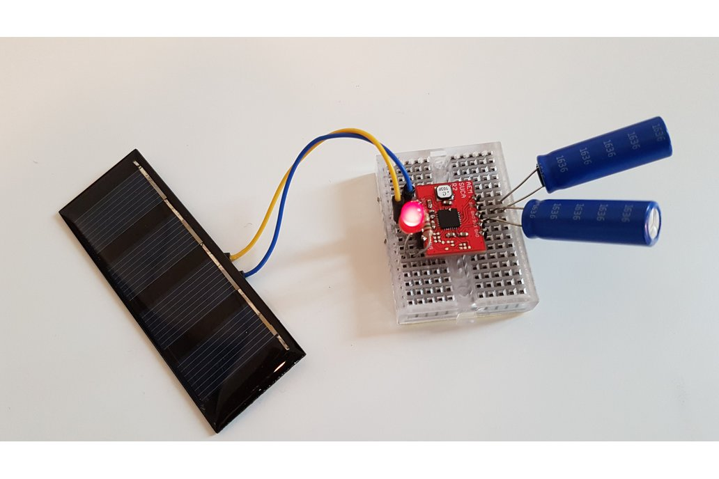 Solar harvesting into supercapacitors 3