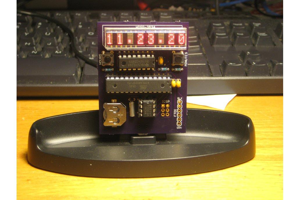 Clock kit with HDSP-2534 LED matrix display 2