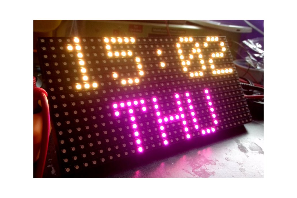 16x32 RGB Matrix panel with an Arduino Uno  shield 5