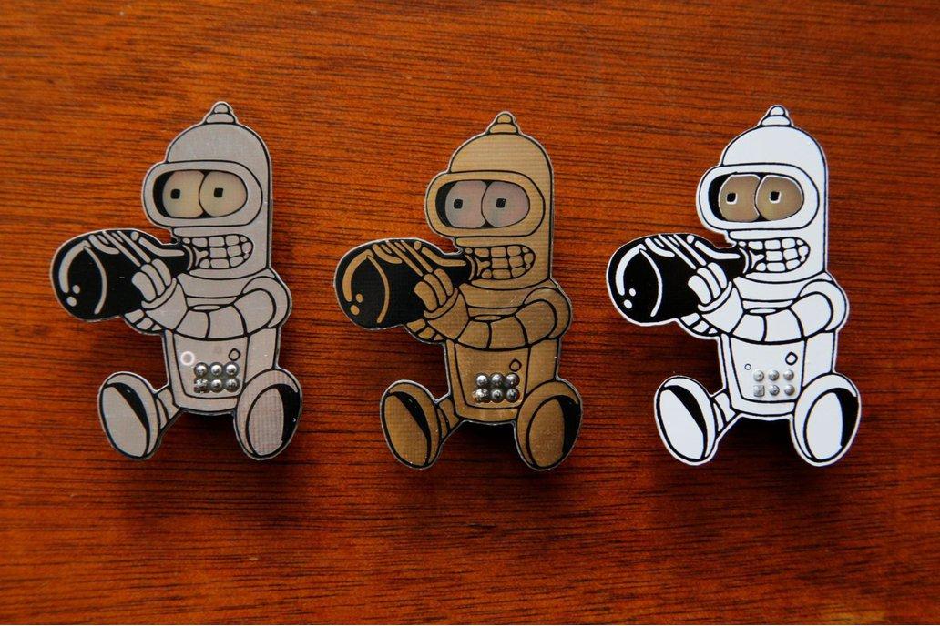 #badgelife Parallel Baby Robot (each) 1