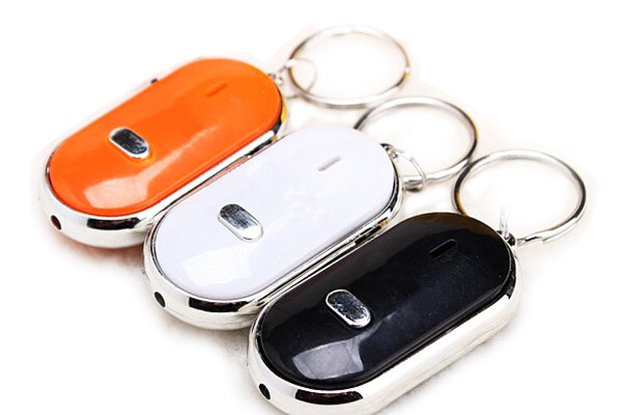 Key fob chain with sound LED