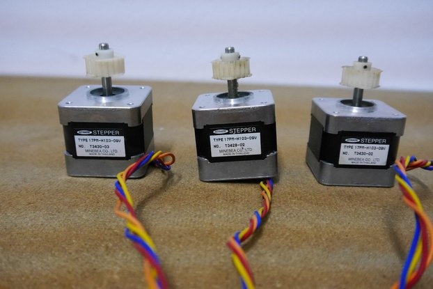 QUALITY MINEBEA NEMA17 STEPPER MOTORS, SET OF 3