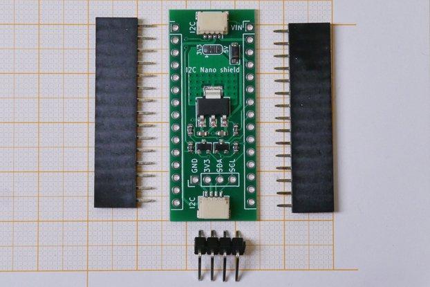 I2C Nano Shield, Qwiic / STEMMA QT compatible