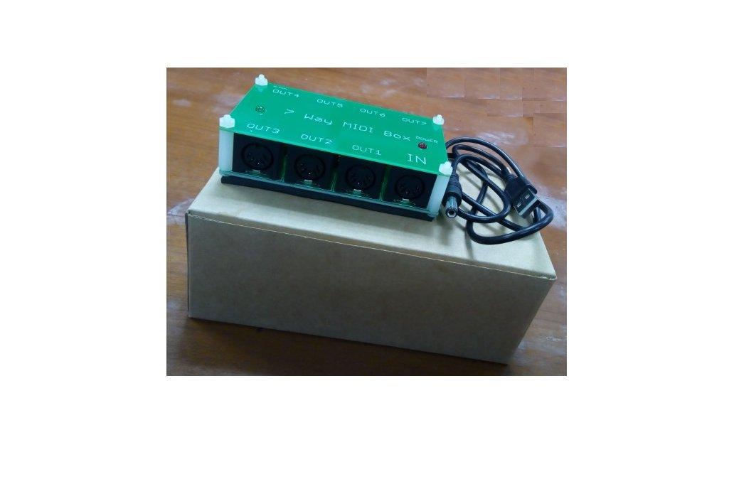 7 way MIDI Thru Splitter unit for synthesizers 4