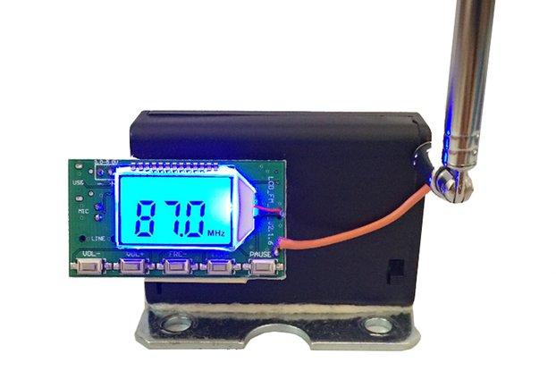 Wireless Microphone Audio LCD Display(10539)