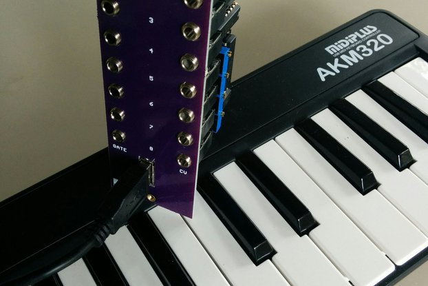 8 Voice MIDI-USB Controller (Eurorack PCB Set)