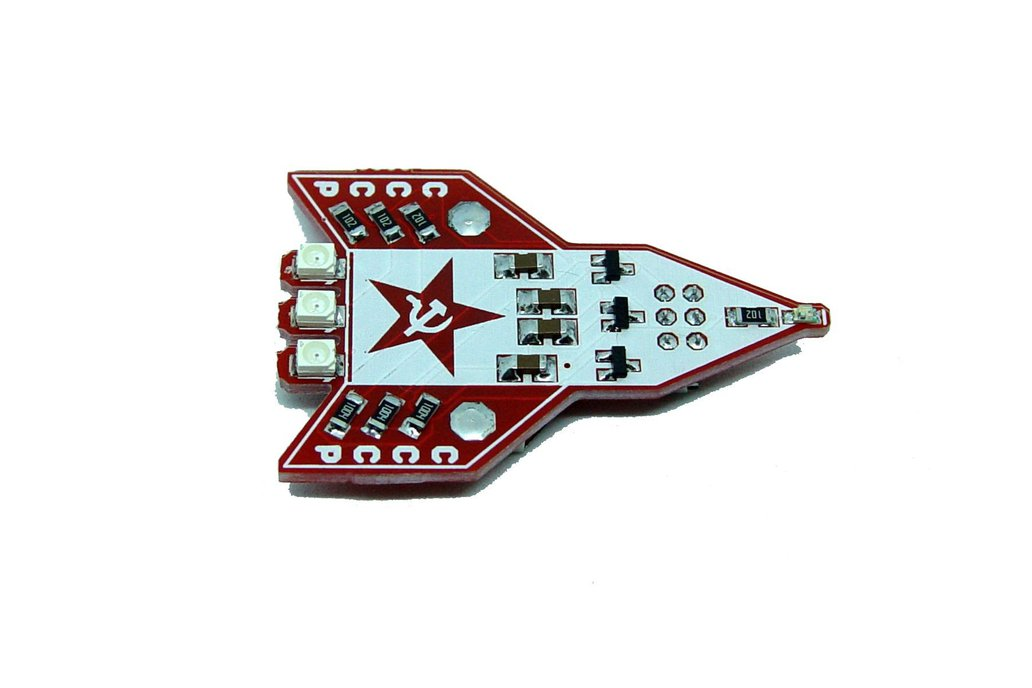 CCCP Russian rocket - LED learn to solder kit 2