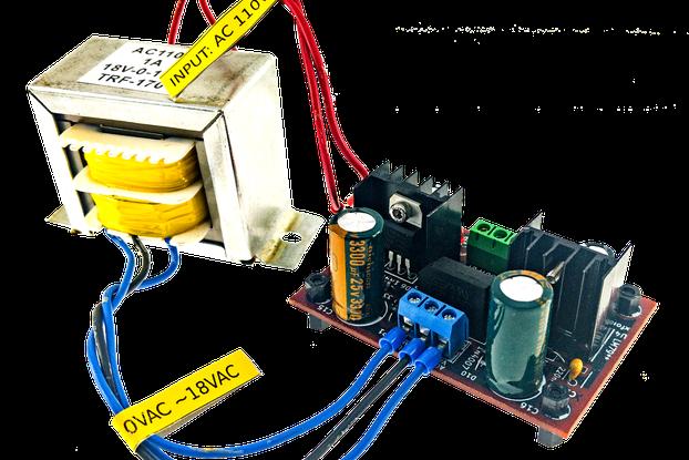Dual 18V DC Power Supply with 110 VAC Transformer